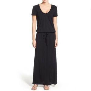 Caslon Black Jersey Tie Waist Maxi Dress